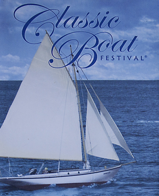 Poster for Classic Boat Festival 2007 featuring Dorothy under sail.