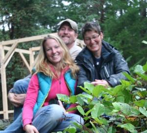 Tobi, Tony & Kate wrap first day shooting, Nov 2012- photo by Tony Grove.