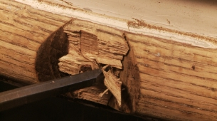 Rubrail prying off wood