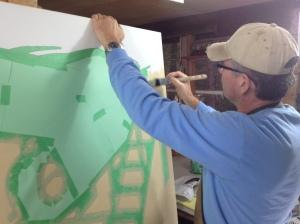 Tony painting Dorothy-background 1