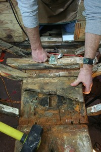 Removing old epoxy from mast step