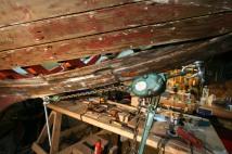 The comealong pulling keel&stem together-TG